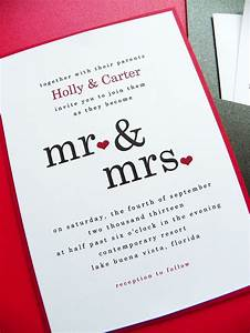 wedding invitation mr mrs pocket card wedding With cute wedding invitations with pictures