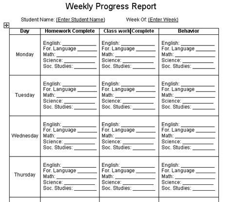 student progress report template student progress report template new calendar template site