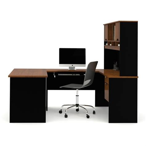 bestar u shaped desk bestar innova u shape desk in tuscany brown and black