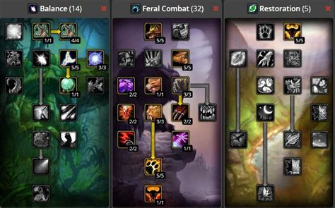 druid feral classic leveling build pve wow guide warcraft balance moonkin tree spec dps class builds vanilla tank combat talent