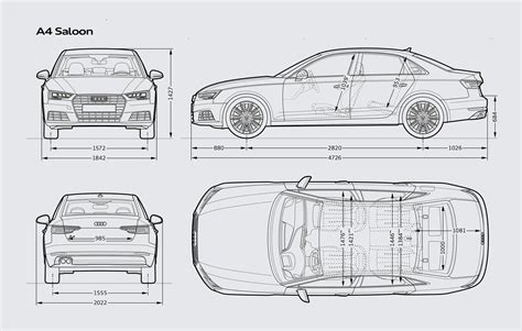 typical dimensions of a car audi a4 saloon audi uk