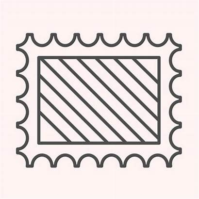 Postage Stamp Outline Frame Mail Clip Illustrations