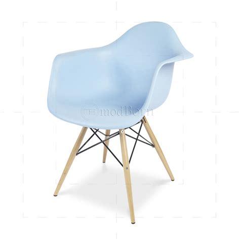 eames style dining daw arm chair blue