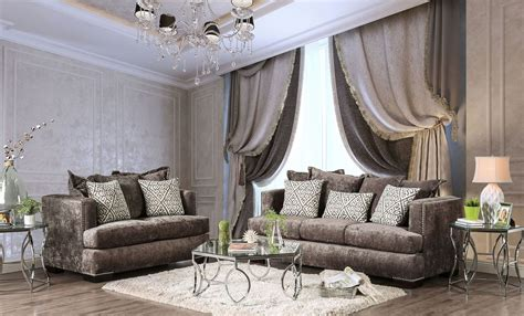 maisie silver living room set from furniture of america