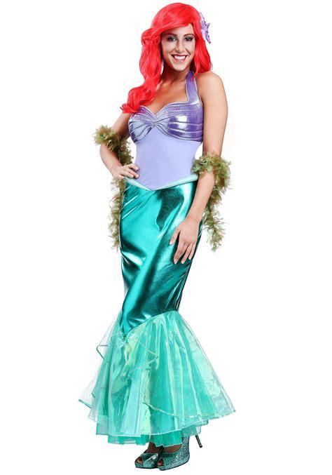 disney  mermaid ariel deluxe costume  women