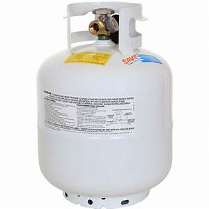 Flameking 20 Lb Empty Propane Tank with Built-In Gas