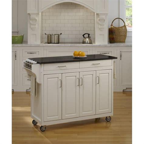 49 inch black granite top kitchen cart in white 9200 1024