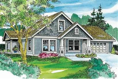 Cottage Plan Spangler Plans Designs Elevation Floor
