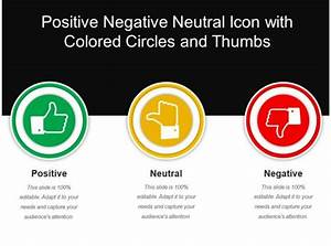 Positive Negative Neutral Icon With Colored Circles And