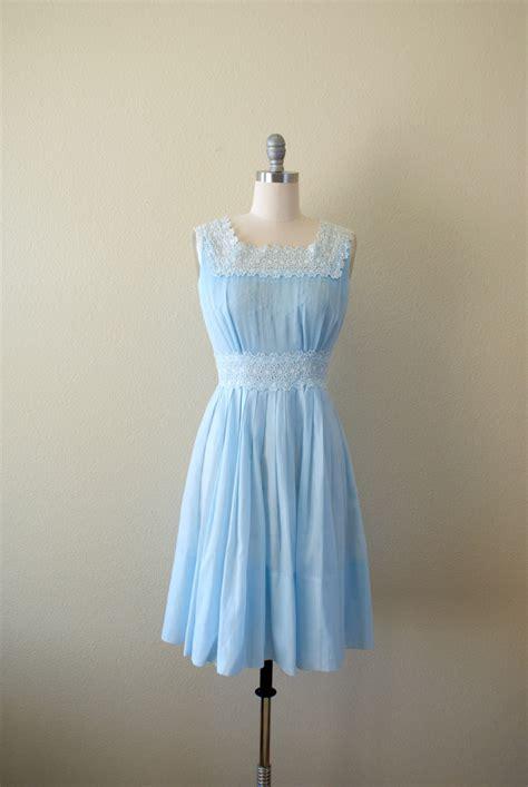 light blue vintage dress vintage 1960s dress light blue sundress micropleat