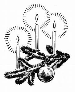 Black And White Vintage Christmas Clipart - ClipartXtras