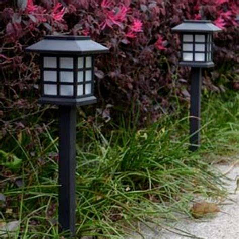 2 pcs solar power l led light yard lawn light