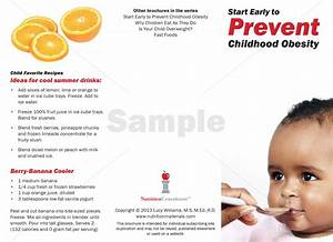Start Early To Prevent Childhood Obesity -  Pamphlets   Printed