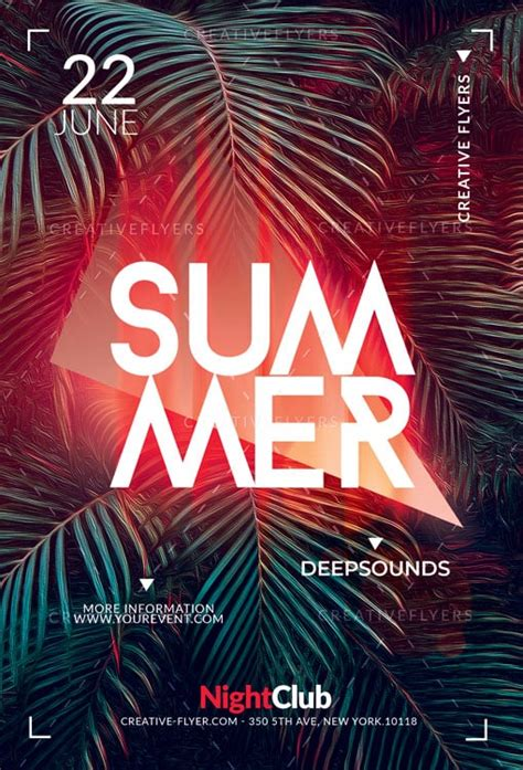 summer poster photoshop templates creative flyers