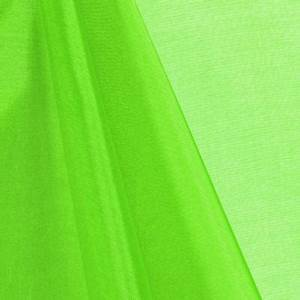 Neon Green Mirror Organza Fabric