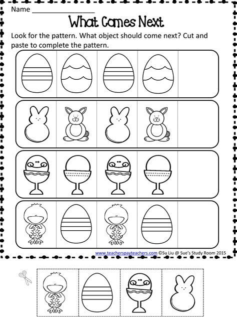 easter patterns worksheets easter patterns