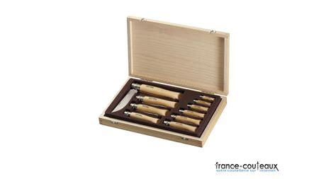 bonne marque de couteau de cuisine coffret ensemble de 10 couteaux opinel bois lames inox couteaux
