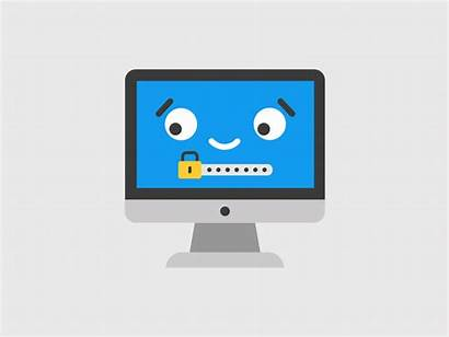 Computer Lock Sticker Animated Animation Dribbble Fun