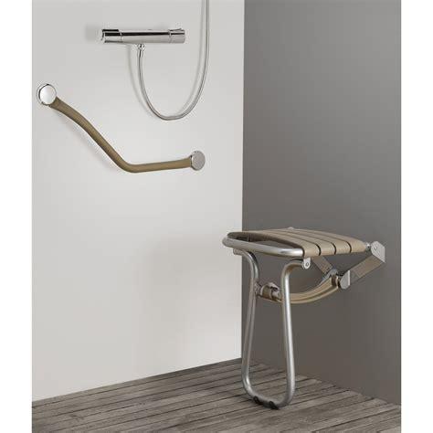 chaise pour salle de bain siège de à fixer aluminium leroy merlin