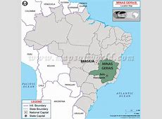 Where is Minas Gerais Located in Brazil Map