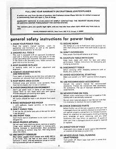 General Safety Instructions For Power Tools