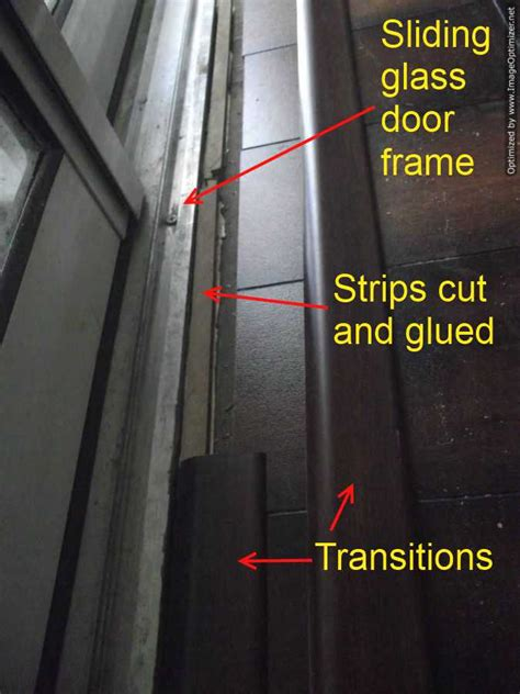 do you need transition strips for laminate flooring laminate transitions at sliding doors