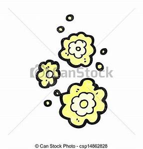 Vector Illustration of cartoon smoke puff symbol ...