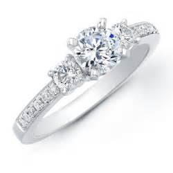 1ct tw three engagement ring - Engagement Rings 3