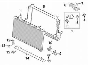 Jaguar Xe Radiator Support Panel  Upper  Lower   Liter