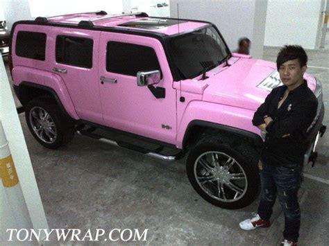 rose gold hummer tony wrap car ฟ ล มเปล ยนส รถ wrapรถ car wrap ราคาพ เศษ