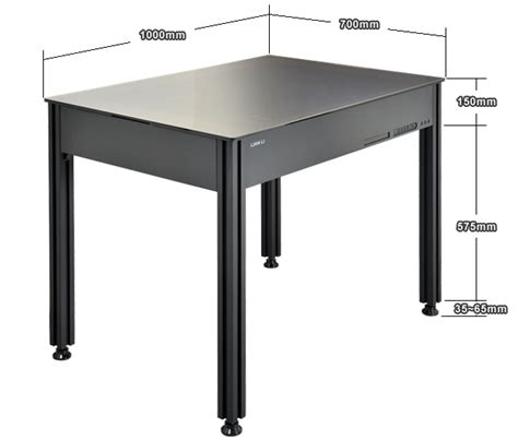 lian li dk q2x black aluminum pc desk case hardened glass