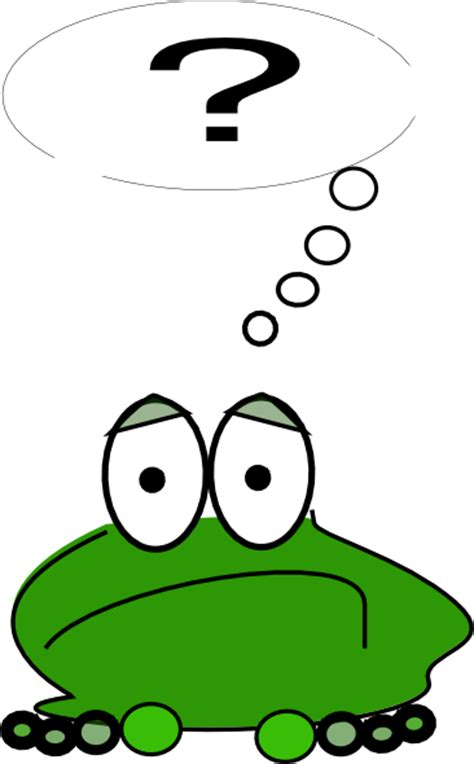 Clipart Question Frog With A Question Clip At Clker Vector Clip