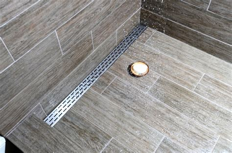 linear shower drain residence style