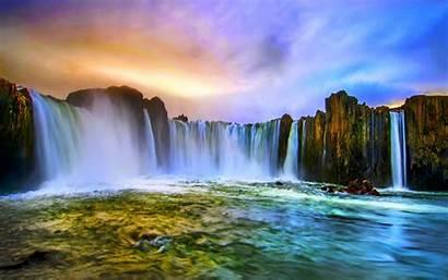 Waterfalls Background Desktop Wallpapers Falls Water Mesmerizing