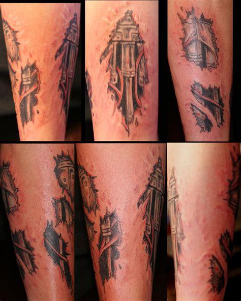 terminator arm tattoo  gary odd edmund  deviantart
