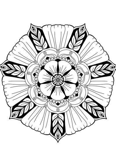 flower mandala digital printable  easy karyn