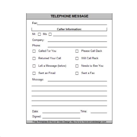 message template for word 10 sle phone message templates pdf word excel