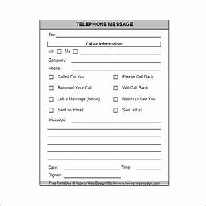 9 phone message templates free download for word excel for Telephone memo template