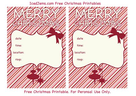 printable christmas invitations free christmas party printables