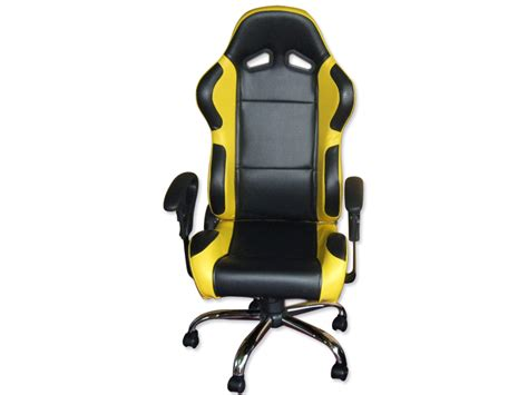 siege baquet pliable siege baquet fauteuil de bureau cuir jaune noir pied