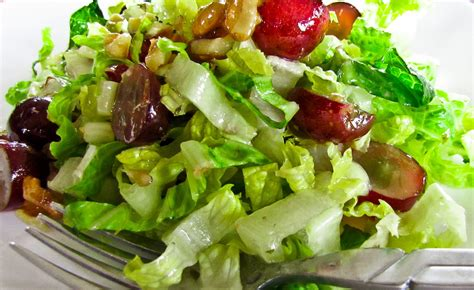 picture of green salad onthemove in the galley green salad with grapes and walnuts