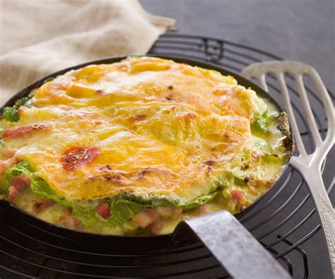 recette gourmande tartiflette au chou vert