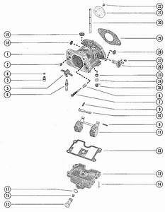 Mercury Marine Model 850 85 Hp  4 Cylinder  Carburetor Assembly Parts