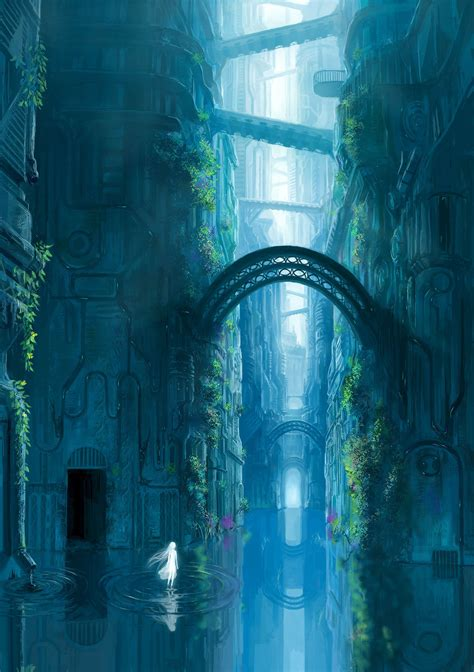 water spirit  fantasy world  imaginary world