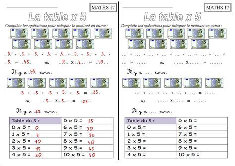 tables de multiplication exercices