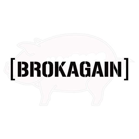 custom vinyl lettering stickers brokagain vinyl decal hawgee