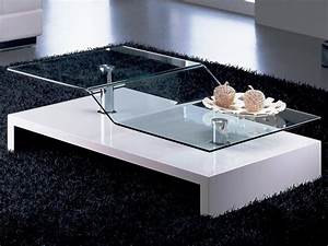 Modern Glass Top Table Coffee Tables — Contemporary