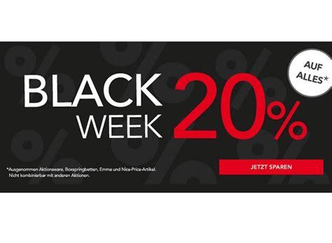 black friday matratzen matratzen concord black week 20 prozent rabatt auf ausgew 228 hlte artikel