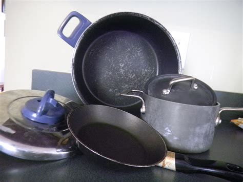 cookware recycle stick non pans pots calphalon upgrade bin
