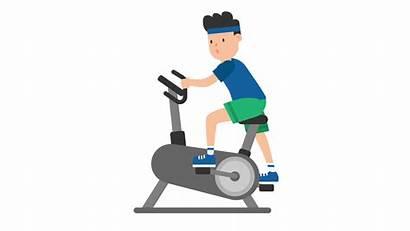 Exercise Cartoon Bike Svg Pixels Ergotron Wikimedia